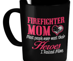 firefighter, gift, and mom image