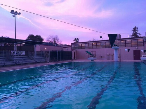 pool, sky, and aesthetic image
