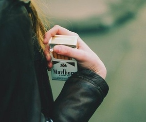 cigarette, girl, and marlboro image