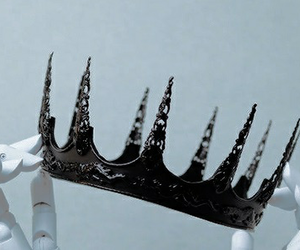 crown, Queen, and black image