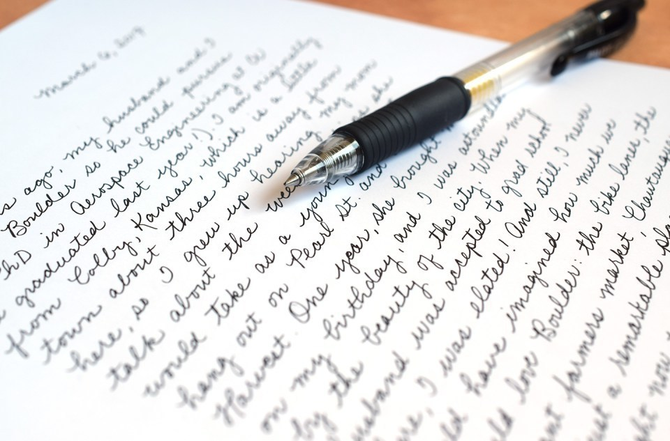 article, handwriting, and personality image