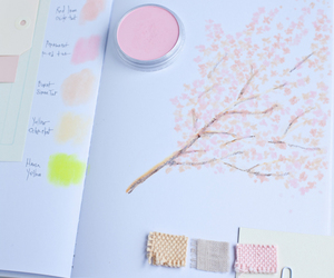 colors, pink, and cherry blossom image