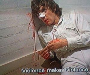violence, a clockwork orange, and movie image
