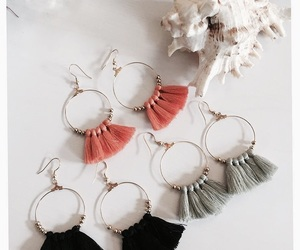 earrings, tassel, and boho earrings image