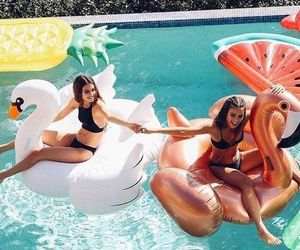 summer, pool, and tumblr image