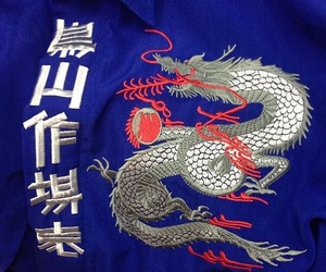 blue, asian, and dragon image