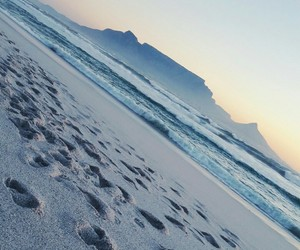 beach, south africa, and sunset image