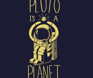 planet, astronaut, and pluto image