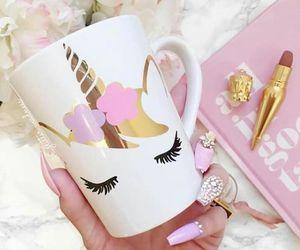 coffee, pink, and kawaii image