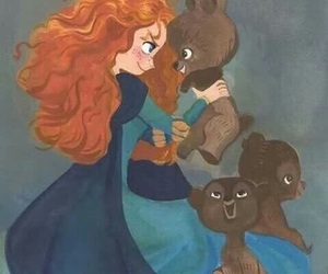 merida, brave, and bear image