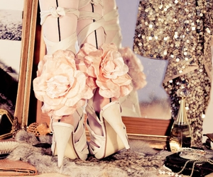fashion, roses, and girl image