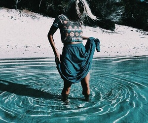 beach, tumblr, and turquoise image
