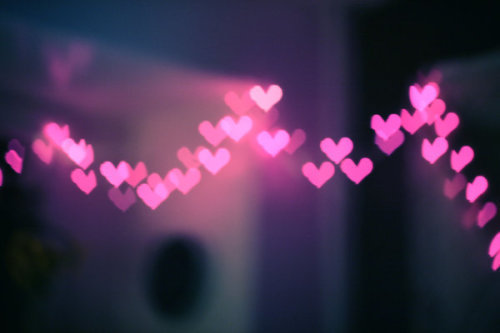 hearts, pink, and lights image
