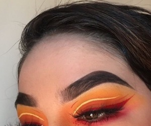 eyebrows, glow, and makeup image