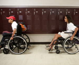 school, stigma, and wheelchair image