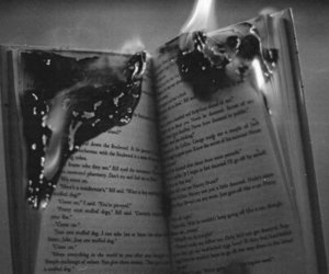 black and white, soul, and book image
