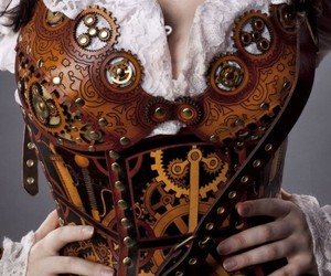 steampunk and corset image