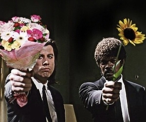pulp fiction, flowers, and movie image