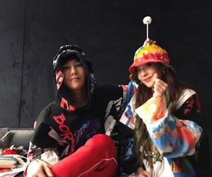 g-dragon, dara, and bigbang image