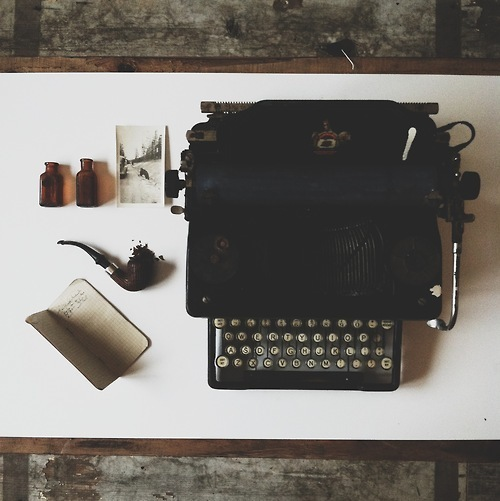 vintage, hipster, and typewriter image