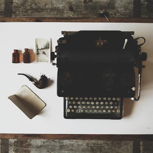 vintage, hipster, and typewriter image