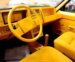 yellow and car image