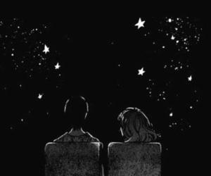black, couple, and dark image