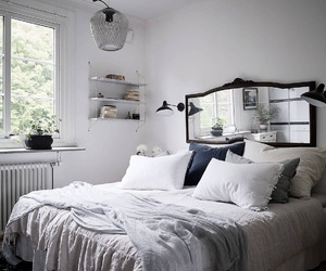 decor, bed, and bedding image