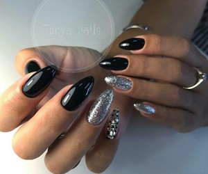 beauty, long nails, and women image