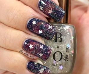 galaxy, glitter, and polish image