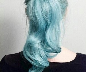 blue, colour, and hairstyle image