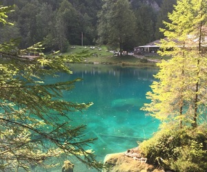 blue, lake, and blausee image