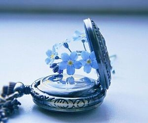 aesthetic, flower, and time image