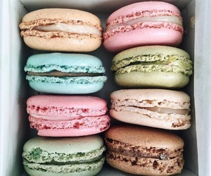 macarons, dessert, and delicious image