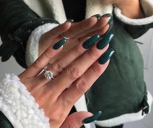 nails, ring, and green image