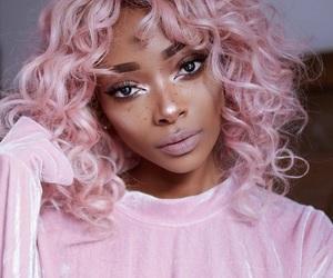 pink, makeup, and hair image