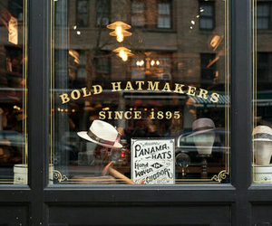 vintage, shop, and hat image