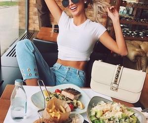 food, hamburgers, and sallad image