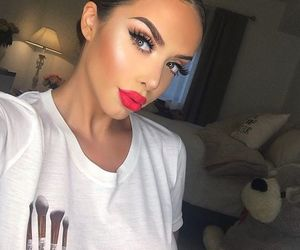 dope, pretty, and red lips image