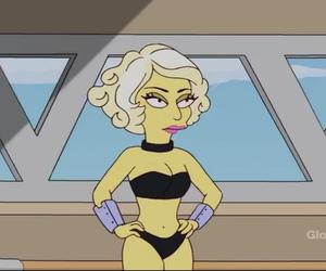 Lady gaga, simpson, and simpsons family image