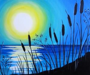 البحر, الليل, and الطبيعة image