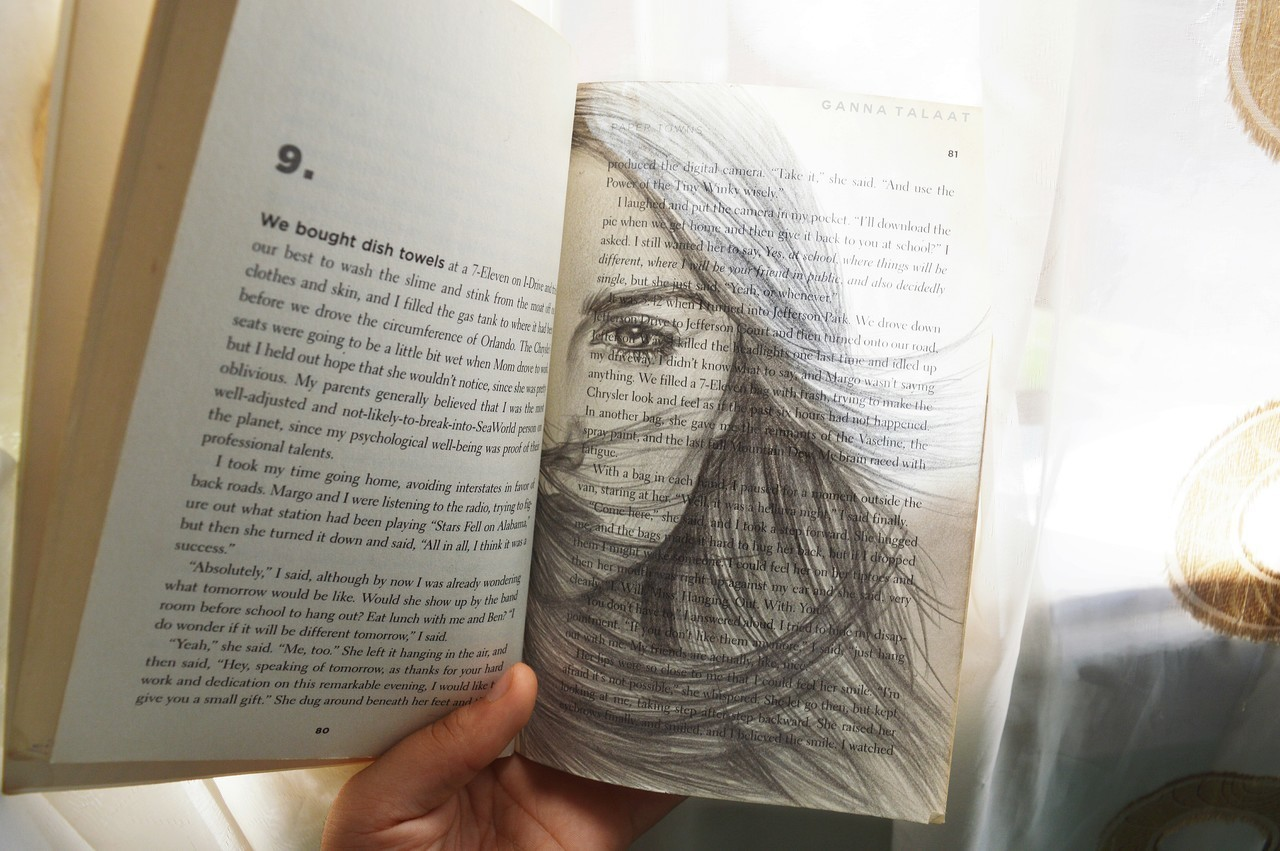 art, book, and draw image