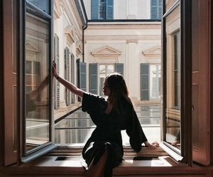 girl and window image