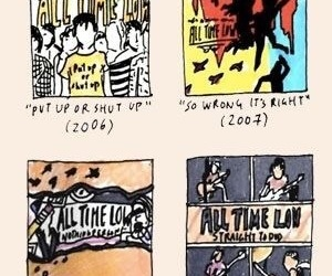 albums, all time low, and art image