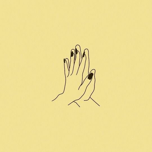 love, hands, and yellow image