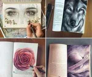 art, book, and drawing image