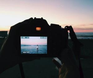 beach, camera, and summer image