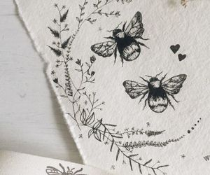bee, drawing, and tattoo image