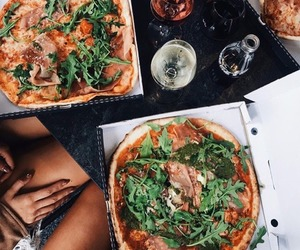 pizza, food, and drinks image
