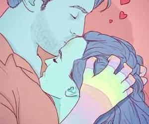 gif, couple, and kiss image